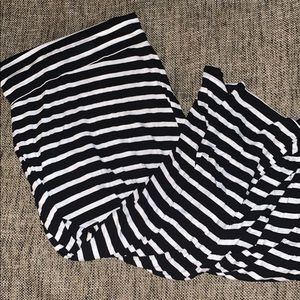 White/black Striped Maxi Skirt NWOT